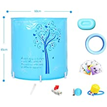 Neilyn Adulto portátil Plegable bañera hogar SPA Salud Barril baño Adulto bañera Grueso plástico bañera baño
