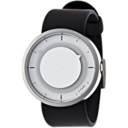 Hygge 3012 Unisex Quartz Watch with Grey Dial Analogue Display and Black PU Strap MSP3012C(GR)