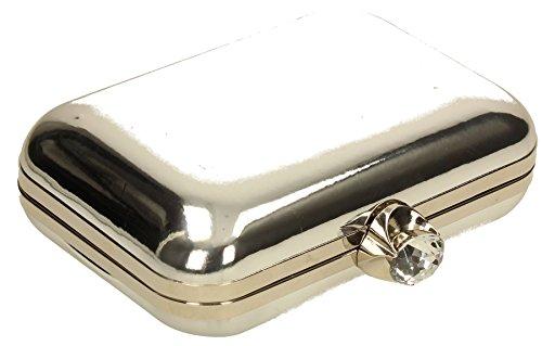 SwankySwans , Damen Clutch One Size Silber