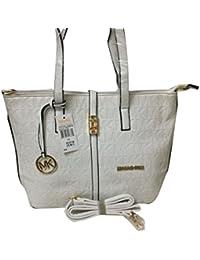 Hema Arts & Crafts Designer Glossy Hand Bags For Women/Girls(White)