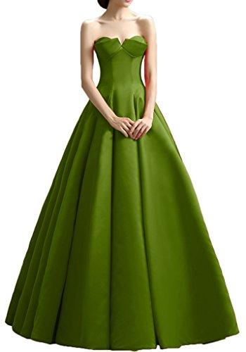 Gorgeous Bride Elegant Traegerlos ALinie Satin Lang Ballkleid Prom ...