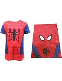 Spiderman garçons T-shirt et formateur Sac Set âge 2-9 ans