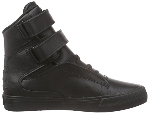 Supra Society Ii, Sneakers Hautes mixte adulte Noir (BLACK/ BLACK - RED RCS)