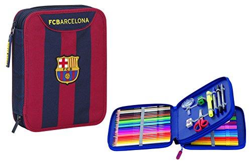 F.C. Barcelona – Plumier Doble, 56 Piezas, 20 x 25 cm (SAFTA 411525056)