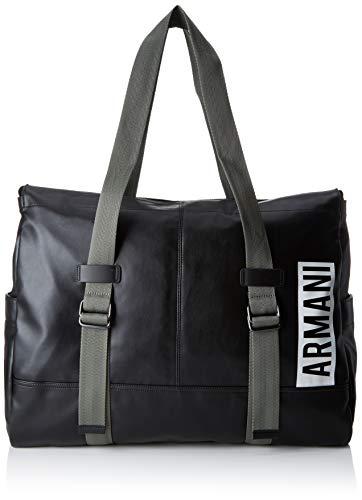 Armani Exchange Herren Duffle With Vertical Logo Tasche, Schwarz (Black) 40x15x51 cm