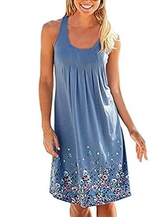 Sommerkleid Damen Kleider Sommer Kleid Knielang ...