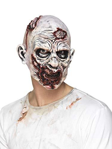 Smiffys Herren Zombie Maske, Ganzer Kopf, One Size, Bunt, (Maske Zombie)