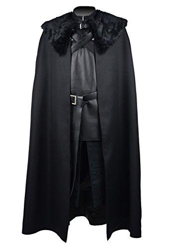 QianQian Herren Cosplay Kostüm PU Pleather Weste Halloween Mantel (S, ()
