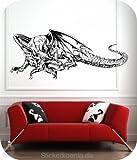 XXL Wandtattoo Drachen Wandaufkleber extrem cooler Drache Dragon Motiv SDR01 Größe: 160x69cm (original Stickerkoenig )