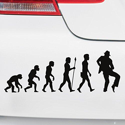 Motoking Autoaufkleber - Lustige Sprüche & Motive für Ihr Auto - Evolution Tanzen - 25 x 9,1 cm - Hellorange Glänzend