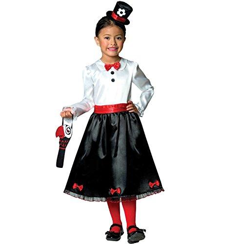 Fancy Kostüm Dress Mary - Viktorianische Nanny-Kindermädchen-Kinderkostüm 9-10 Jahre /128-134