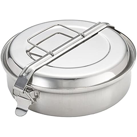 Menax - Lunchbox 2 Piatti - Acciaio Inox - Ø 18 cm