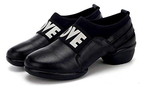 SHIXR Femmes Chaussures De Sport De Femmes A Augmenté Chaussures De Fitness Femme Chaussures De Jazz Modernes Respirante noir