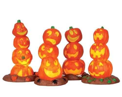 Lemax - Pumpkin Stack - Beleuchtetes Zubehör - Halloween Village - Spooky Town - Dorf
