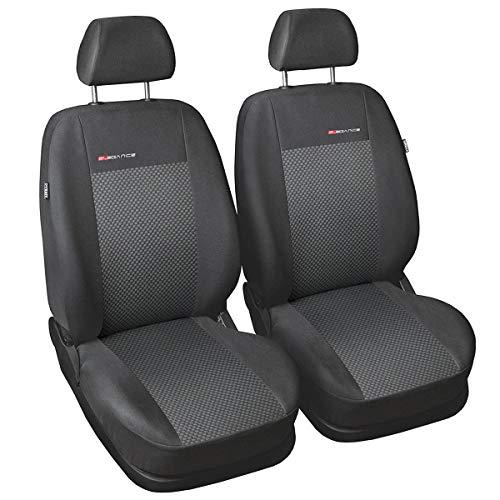 Coprisedili Auto Anteriori Copri-sedile con Airbag  Sistema Elegance P3 - Grigio