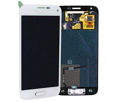 Original Samsung Galaxy S5 MINI SM-G800F G800F LCD Display Touchscreen weiß white GH97-16147B (Lcd Weiße Samsung Für Galaxy S5)