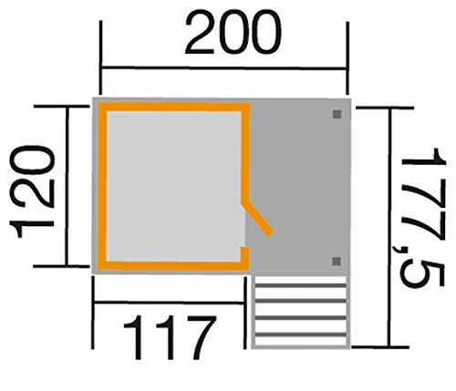 Weka Kinderspielhaus Lotti mit Treppe und Terrasse, Sockelmaß: ca. 200 x 120 cm, Podest ca. 60 cm, Gesamthöhe ca. 204 cm, fichte Natur
