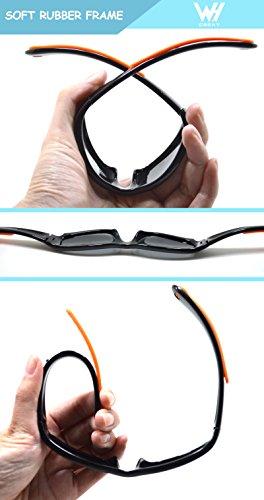 5e739fc056 Kids Wrap Sport Polarized Sunglasses by WHCREAT Flexible Rubber Frame with  Anti-slip Band for Girls Boys Children Age 3-6 - Black Frame Black Lens -  Buy ...