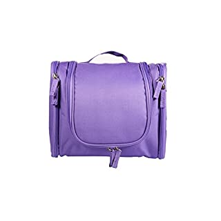 UTRO Travel Toiletry Bag Multi-functional Portable Large Capacity Cosmetic Storage Bag Organizer Wash Bag Makeup Kit Toiletry Case with Hanging Hook for Men and Women (Purple)