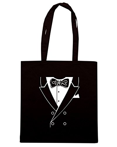 T-Shirtshock - Borsa Shopping FUN1216 dinner jacket tshirt blk mens cu (2) Nero