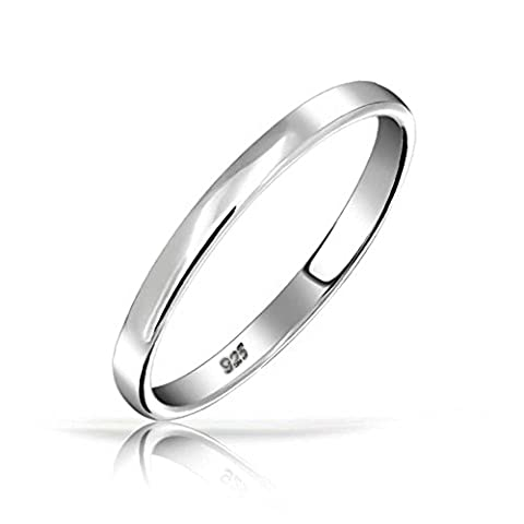 .925 Sterling Silver Wedding Band Thumb Toe Ring 3mm
