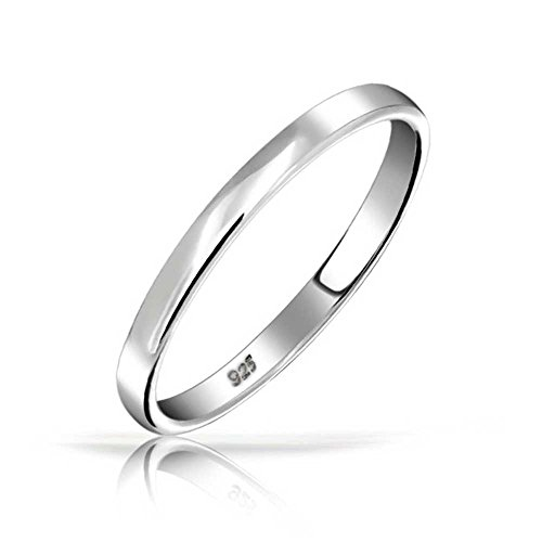 Bling Jewelry .925 Sterling Silver Wedding Band Thumb Ring Toe 3 millimetri
