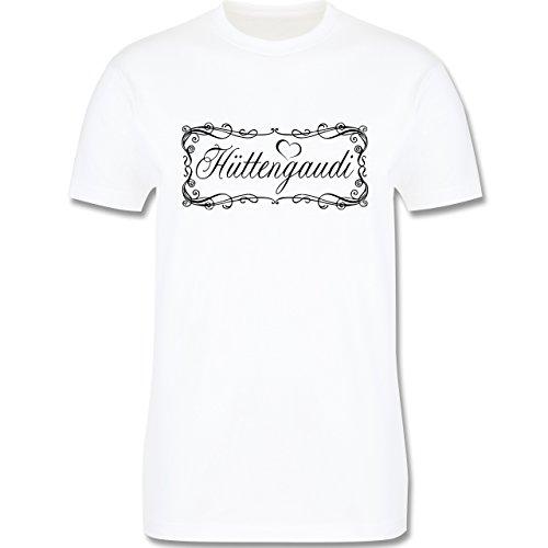 Après Ski - Hüttengaudi Vintage verspielt - Herren Premium T-Shirt Weiß