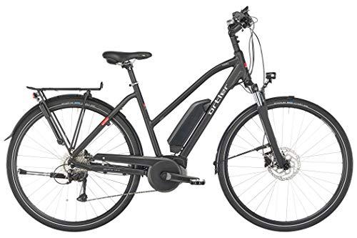 Ortler Tours Nyon Damen Trapez schwarz matt Rahmenhöhe 45cm 2018 E-Trekkingrad