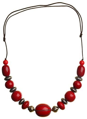 BUDDHAFIGUREN/Billy Held Tibeter Halskette rot 12 - Ethno-Schmuck - Kette