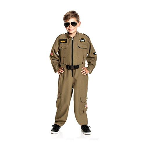 t Militär-Kostüm Kinder Overall Junge Pilotenkostüm Faschings-Kostüm Größe 164 (Kinder Militär Kostüme)
