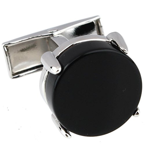 AMDXD Gioielli Acciaio Inossidabile Gemelli da Polso Uomo Matrimonio Gemelli Camicia Nero Classico - 925 Polsino Di Gioielleria