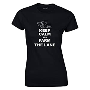 Keep Calm and Farm The Lane, League of Legends Inspirert, Video Games, Frauen Gedruckt T-Shirt
