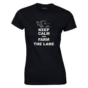 Keep Calm and Farm The Lane, League of Legends Inspirert, Video Games, Frauen Gedruckt T-Shirt