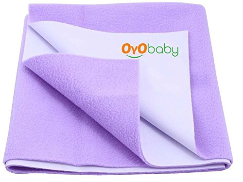 Oyo Baby - Quickly Dry Super Soft, Reusable Mat / Absorbent Sheets / Mattress Protector (Size:70 Cm X 50 Cm) / (28 Inch X 19 Inch ) Purple,S  available at amazon for Rs.153