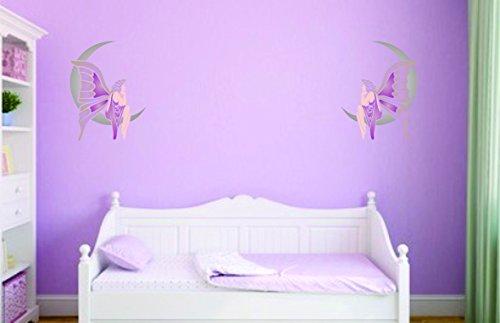 Fata Lunare, riutilizzabile stencil per pittura-migliore qualità Fata Luna idee-Utilizzare su pareti, Pavimenti, tessuti, vetro, legno, terracotta, e più...