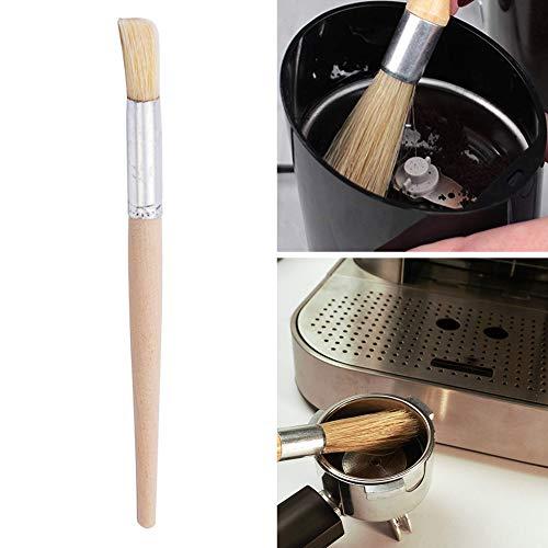 xMxDESiZ Grinder Maschine Reinigung Brush Holzhandle Bristles Kaffee Espresso K¨¹chenwerkzeug