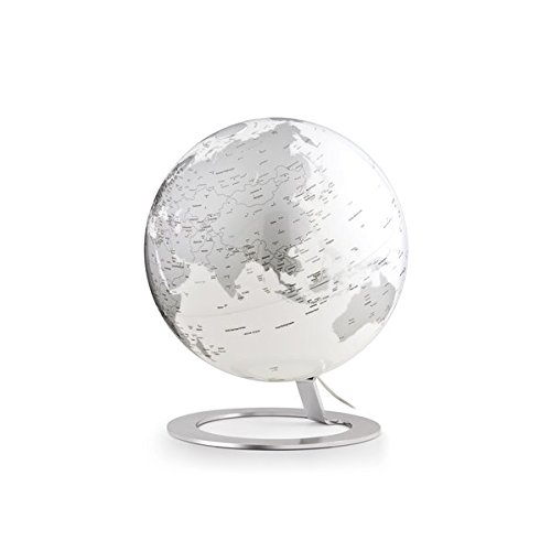 TECNODIDATTICA 0324ig-Leuchtglobus Atmosphere Iglobe Light Chrome, Farbe Silber