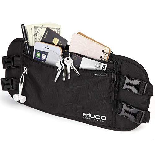 MUCO Marsupio da Viaggio Cintura Portasoldi Nascosta Rfid Protezione per Passaporto e Biglietto e Telefono e Della Carta Di Credito