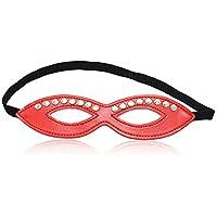 JASNO Unisex Halloween Holiday Eye Mask Party PU Eyeshade Cosplay Props Suministros para Adultos,Red