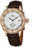 Ball Men's NM1098D-PGLCJWH 'Trainmaster' White Dial Brown Leather Strap Secondmeter Swiss Automatic Watch