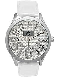 Yonger pour elle DCC 1564/06 - Reloj , correa de cuero color blanco