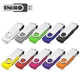 4GB Memory Stick Flash Drive USB Stick 10 Bunt USB-Stick Stück Speicherstick 2.0 10 Farbe