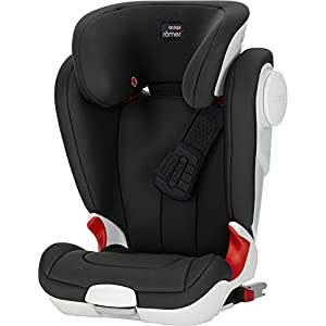 Britax Römer car seat Kidfix XP (SICT) Group 2/3. Cybex Sturdy and high-quality child car seat for long-term use - For children aged approx. 9 months to approx. 12 years (9-36 kg), Suitable for cars with and without ISOFIX Maximum safety - Depth-adjustable impact shield, 3-way adjustable reclining headrest, Built-in side impact protection (L.S.P. System), Energy-absorbing shell 12-way height-adjustable comfort headrest, One-hand adjustable reclining position, Easy conversion to Solution M-Fix car seat for children from 3 years (group 2/3) by removing impact shield and base 8
