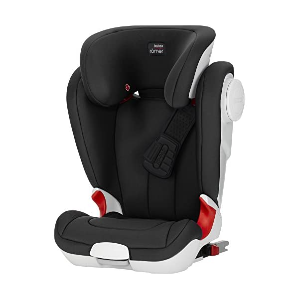 Britax Römer car seat Kidfix XP (SICT) Group 2/3. Britax Römer Front impact pad - XP, storm gray Shockproof side protection - MTS Codes High back for shock absorbing side protection and correct strap guide 1
