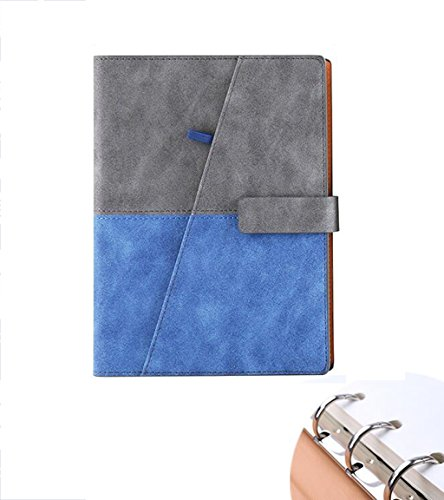 IMFFSE Notepad Einfaches Notebook, Traveler Notebook, Business-Leder-Büro Tagebuch,Blue