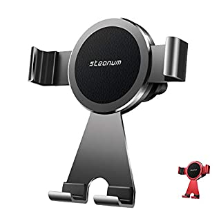 steanum Car Phone Holder, Mobile Phone Holder 360° Rotating Car Air Vent Mount Metal Phone Car Cradle for iPhoneX/XS/XS Max/XR/8/8+,Compatible With Samsung s9/s9+/s8/s8 +/s7/Note9/8/7/6/5 (Black)