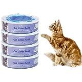 Signstek Katzen Nachfüllkassette für Litter Locker II - Cat Litter Disposal System Nachfüllkassetten(4er Pack)