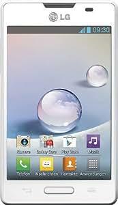 LG E440 Optimus L4 II Smartphone (9,6 cm (3,8 Zoll) Display, 3 Megapixel Kamera, WiFi, Android 4.1) weiß