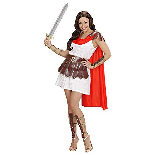 Prinzessin Klein Krieger Kostüm Größe - Widmann 71562 Erwachsenenkostüm Krieger Prinzessin, Damen, Weiß/Braun/Rot, M