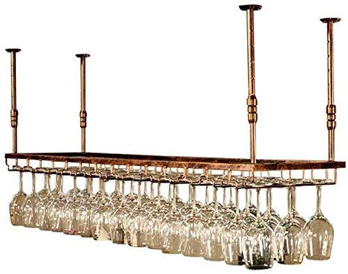 YAGEER JJIAGD Weinflasche Weinglas Zahnstangen-Regal Weinglashalter Champagner Glas Deckenhalter Glas Rack-Wein-Halter (Size : 60 * 35cm)